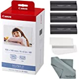 Photo Savings Canon KP-108IN Color Ink and Paper Set + Fibertique Cleaning Cloth