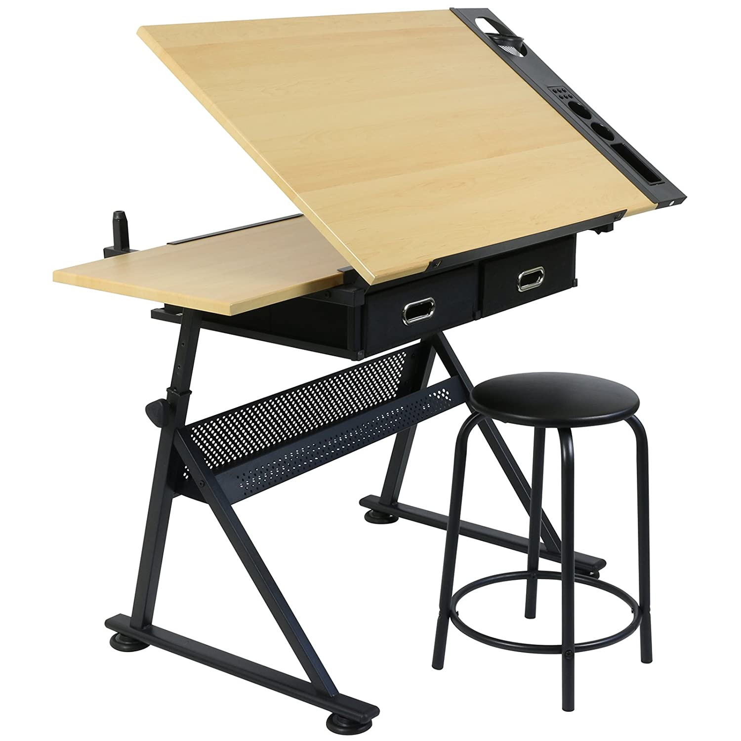 Peachy Hartleys Fully Adjustable Drawing Board Includes Desk Stool Download Free Architecture Designs Embacsunscenecom