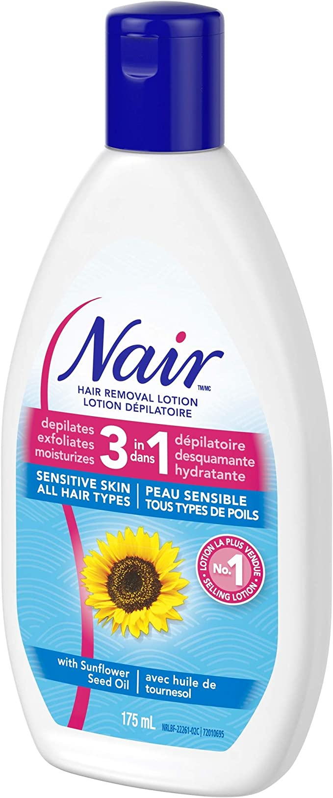 Nair 3 In 1 Hair Removal Lotion For Sensitive Skin With Sunflower