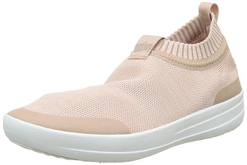 25e0749a7db6f0 FitFlop Damen Uberknit Slip-on Sneakers Hohe Sneaker  Amazon.de ...