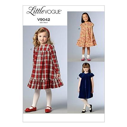 1817a38f7da Amazon.com  Vogue Patterns V9042 Children s Girls  Dress Sewing Template