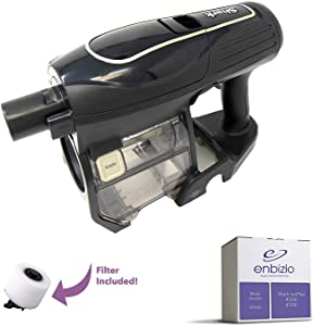 Enbizio Genuine Shark Vacuum Replacement Parts for The Shark Ion Flex Cordless IF200 IF250 - Handheld Motor & Handle Attachment - Vacuum Filter Set Included! - Part #XPREMF100 (Gold)