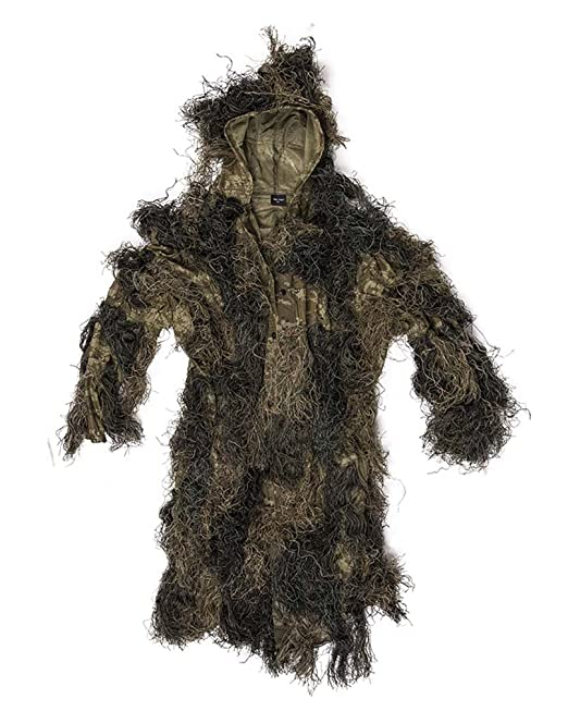 Mil-Tec Ghillie Suit Anti Fire Basic Traje Camuflaje: Amazon ...