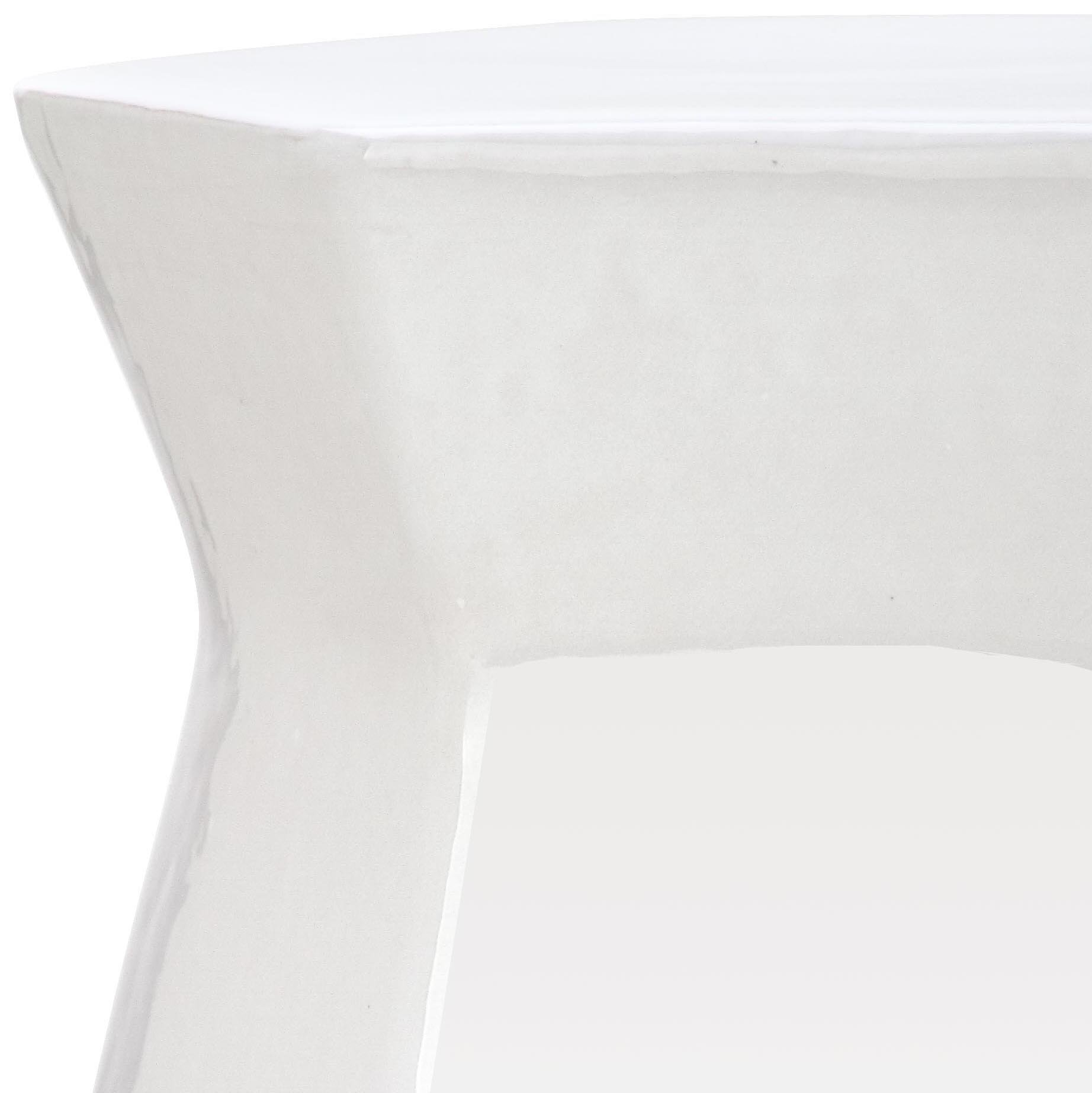 Safavieh Castle Gardens Collection Modern Hexagon White Glazed Ceramic Garden Stool by Safavieh (Image #2)
