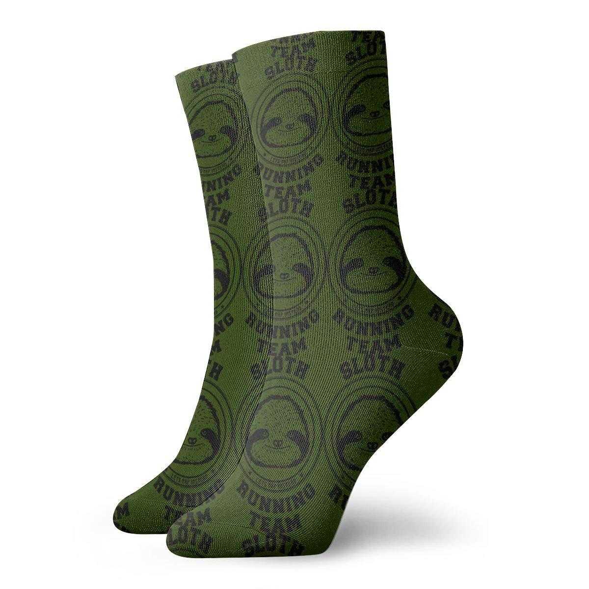 Sloth Running Team 3D Socks Unisex Novelty Crew Sock Low Socks Athletic Socks