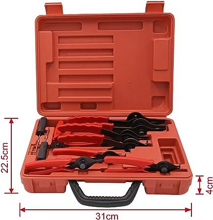 Sprengring Zange Seegeringzange 11teilig Sicherungszangen Set Sicherungszange Außen Innen Auto