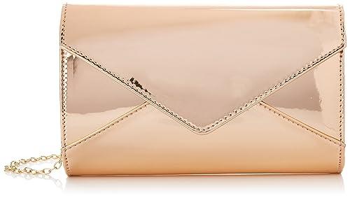 Swankyswans - Lena Patent Envelope, Carteras de mano Mujer, Dorado (Champagne Gold)