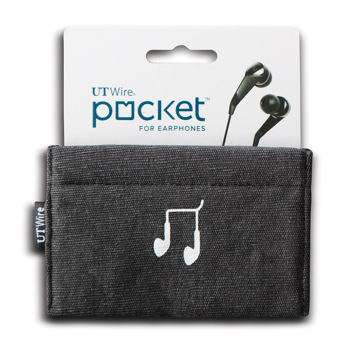 Ut Wire Utw Pk01 Bk Pocket Earphone Case Pouch, Black by Ut Wire
