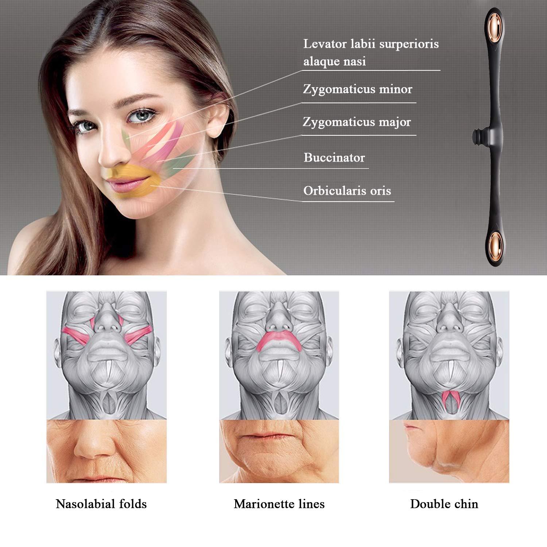 Entrenador de m/úsculos facial y flexible para la cara para ejercitar la cara antienvejecimiento suaviza las l/íneas y arrugas y refuerza la piel para todas las edades