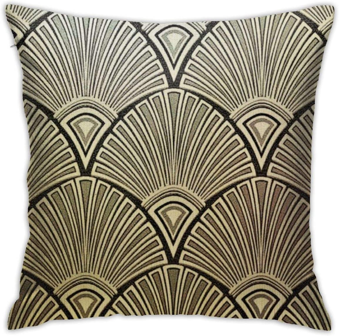 Art Deco Pattern Images Daily Decorations Sofa Throw Pillow Case Cushion Covers Zippered Pillowcase 4545