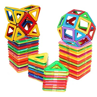 D-tal Magnetic Building Blocks, Educational Magnetic Tiles, Creative Magnetic Building Blocks Set, Magnetic Tiles STEM Preschool Educational Construction Kit, Magnetic Building Toy (30 PCS): Toys & Games