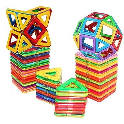 D-tal Magnetic Building Blocks, Educational Magnetic Tiles, Creative Magnetic Building Blocks Set, Magnetic Building Toy (30 PCS): Toys & Games