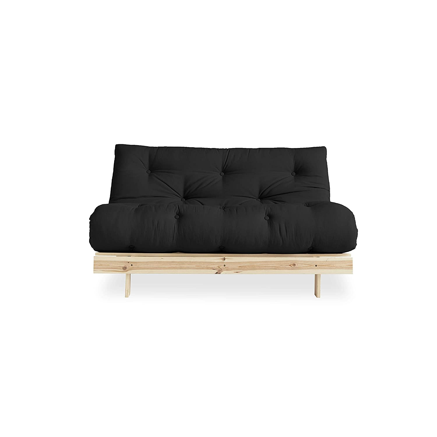 2 Places Futon Canap/é-lit Style scandinave en Bois Naturel 140 x 200 Nordique 20 x 140 x 200 cm Pin certifi/é FSC Mix Structure Karup Design Roots