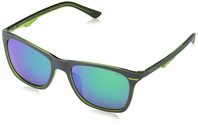 Police Blackbird Jr 4, Gafas de Sol para Niños, Multicolor (Shiny Transp Green