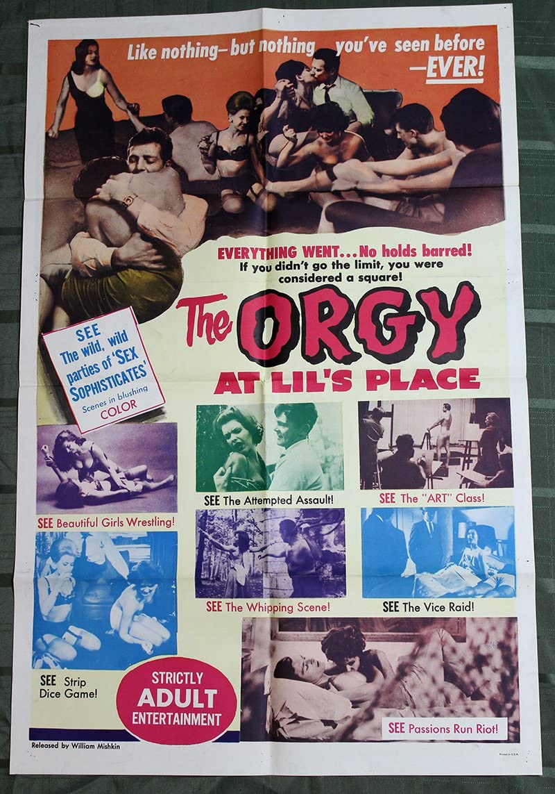 The Orgy at Lil's Place (USA, 1963) US One Sheet Movie Poster at Amazon's  Entertainment Collectibles Store