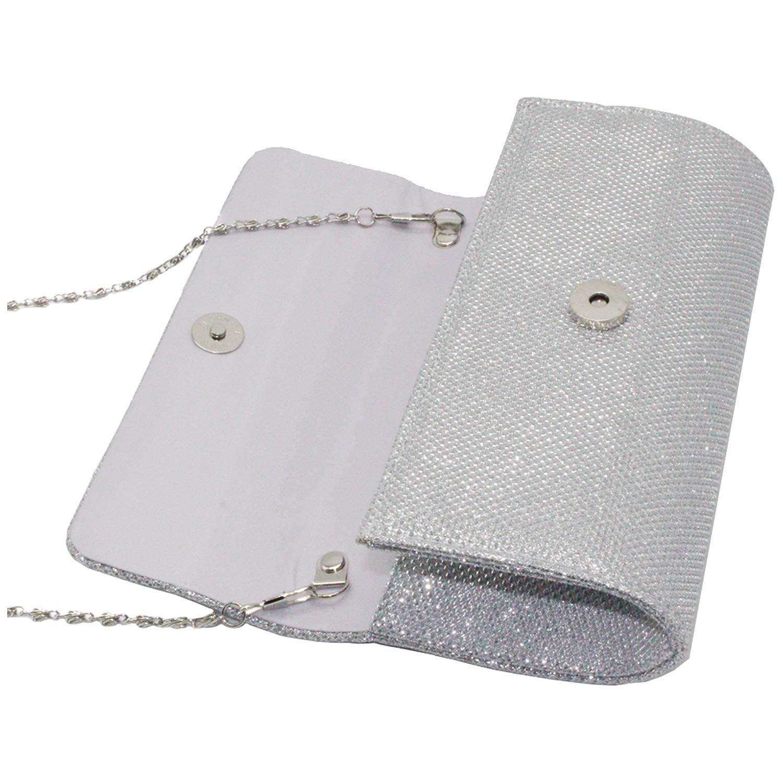Womens Glitter Diamante Clutch Sac /à Main Sac /à bandouli/ère Enveloppe Brillante Bourse Sacs de soir/ée de Bal Abricot