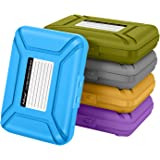 SISUN Professional Premium Anti-Static 2.5 / 3.5 Inch Hard Drive HDD Protection Box Case Grey/Purple/Yellow/Blue/Green