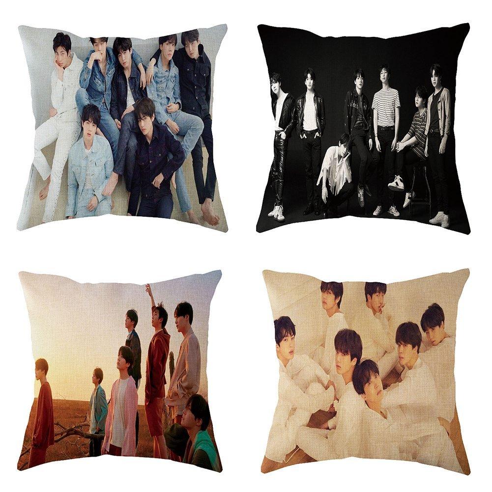 Bosunshine BTS Bangtan Boys Love Yourself 承 'HER' 'Tear ' Pillowcase   Pillow Cover for Fans (4PCS)