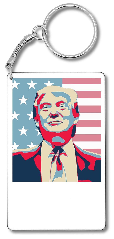 Donald Trump American Flag Artwork Llavero Llavero: Amazon ...