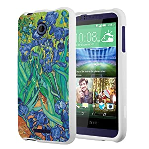 HTC Desire 510 Case, Capsule-Case Slim Fit Snap-on White Hard Case for HTC Desire 510 - (Irises)