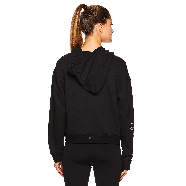 Hooded Activewear Workout /& Yoga Sweater Gaiam Womens Zip Up Crop Hoodie