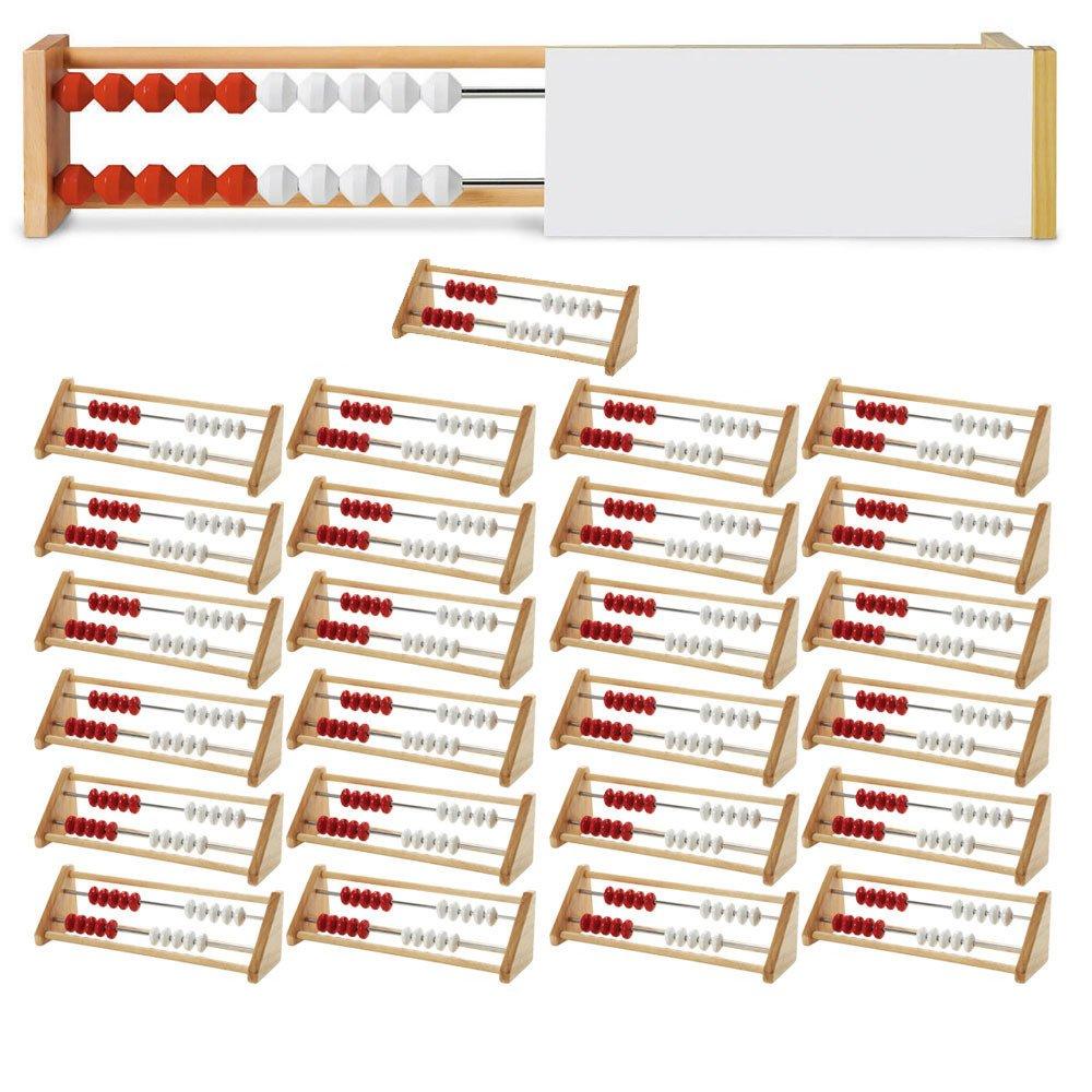 ETA hand2mind 20-Bead Rekenrek Class Kit with 25 Wooden Frames and a Teacher Demonstration Frame