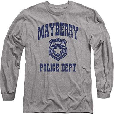Andy Griffith Show MAYBERRY POLICE Badge Licensed Women/'s T-Shirt All Sizes