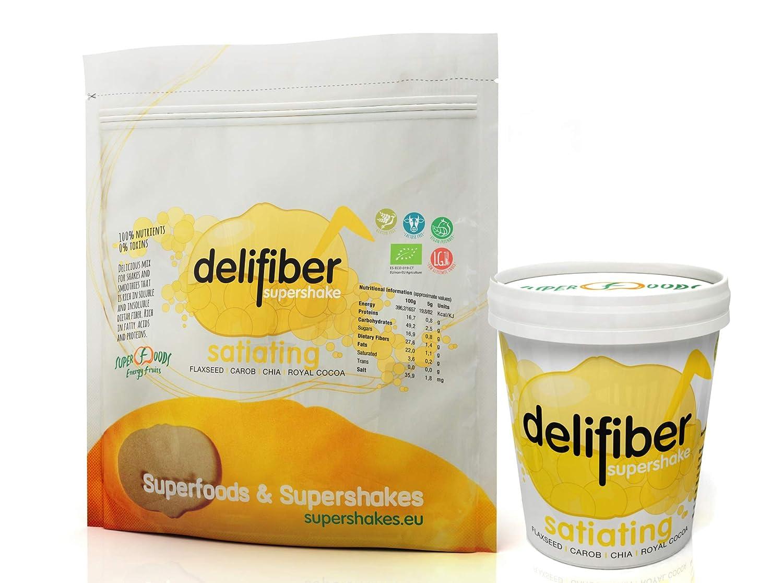 Delifiber Ecológico 2 x 250 g | Saciante | Adelgaza | Digestivo | Bloquea grasas y azúcares