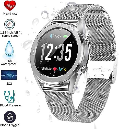 Qimaoo Smartwatch Fitness Watch con Monitor de presión Arterial ...