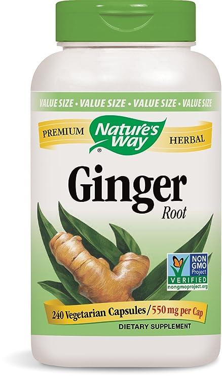 Natures Way - Magnesio de la raíz 550 del jengibre. - 240 cápsulas vegetarianas