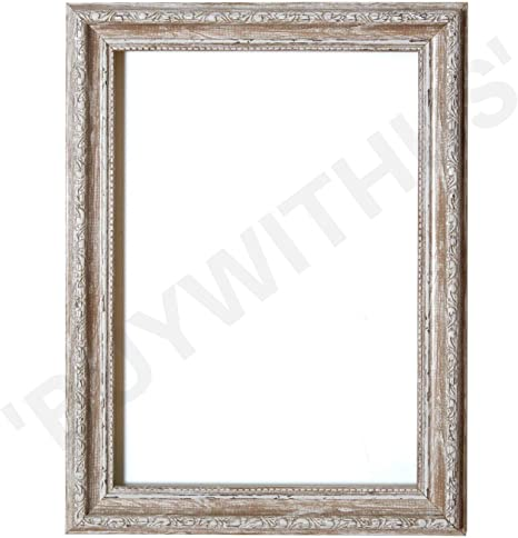 Paintings Frames Shabby Chic Decorative Picture//Photo//Poster Frame with an MDF Backing Board Ready to Hang-with A High Clarity Styrene Shatterproof Perspex Sheet A1 Black