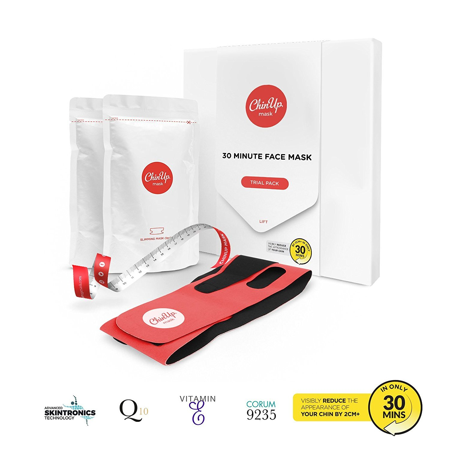 Amazon.com : ChinUp by UpYours- Non-Surgical Face Mask, Reduce the  Appearance of a Double Chin (Trial Pack - 2X Masks) : Beauty