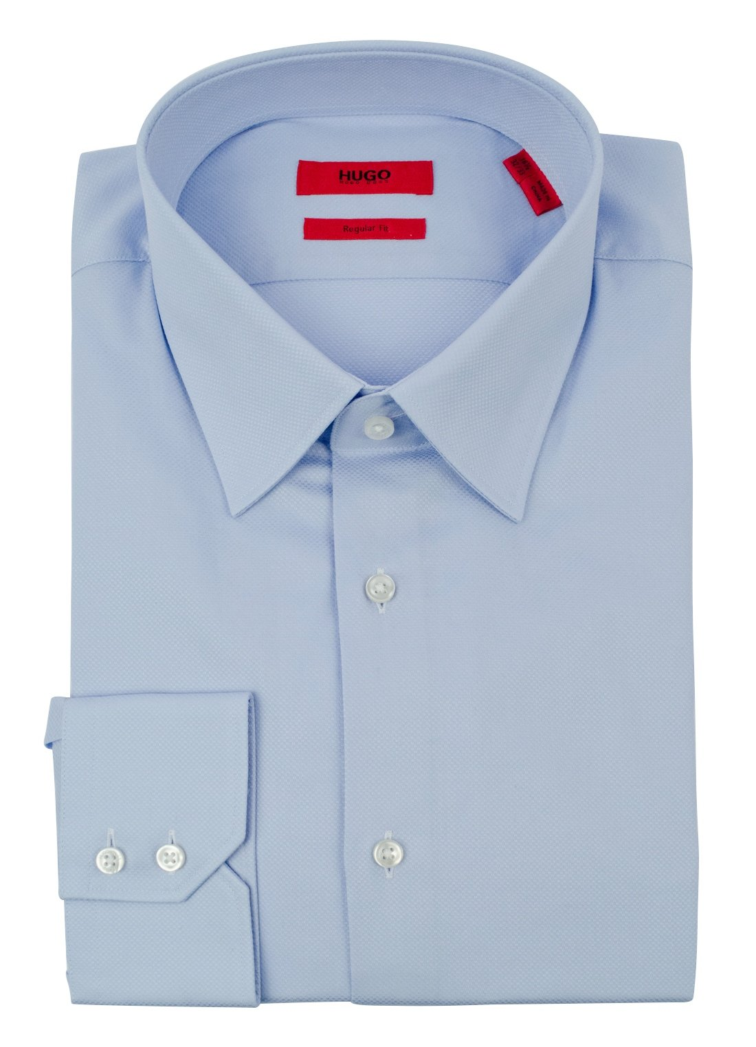 Hugo Boss Men's Red Label Regular Fit C-Menzo Broadcloth Dress Shirt-B-16.5-32/33