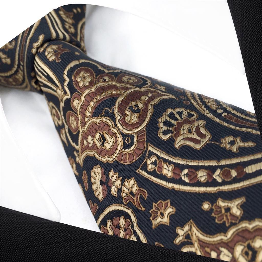 shlax/&wing /único Marr/ón Negro Corbatas Para Hombre Seda Traje de negocios For Men Classic