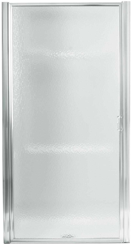 textured glass shower doors. Sterling 950C-24S Standard Pivot Shower Door, Silver With Rain Glass Texture - Amazon.com Textured Doors