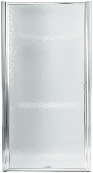 sterling 950c24s standard pivot shower door silver with rain glass texture