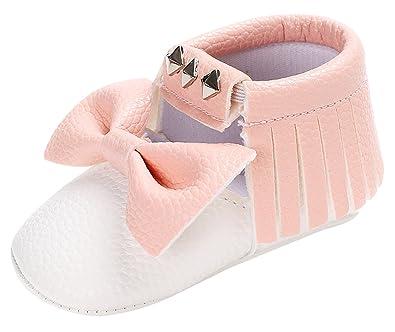 Happy Cherry Chaussures Premier Pas en Cuir pour Bébé Fille Chausson  Semelle Antidérapant Souple pour Printemps Automne Hiver Taille 18-22   Amazon.fr  ... 1af95d4f0fbc