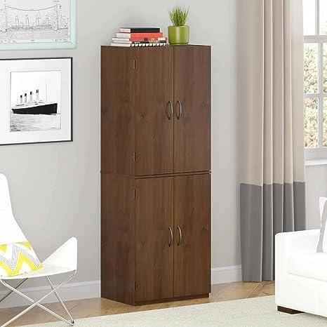 Gracelove Storage Cabinet Kitchen Pantry Organizer Wood Furniture Bathroom Cupboard Shelf Alder