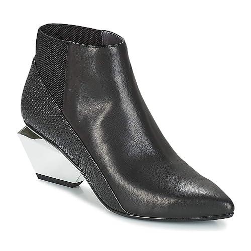 UNITED NUDE Jackie Metal Mid Botines/Low Boots Mujeres Negro Botines: Amazon.es: Zapatos y complementos