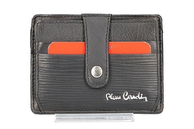 Cartera hombre PIERRE CARDIN negro cuero bolsillo porta tarjetas VA73