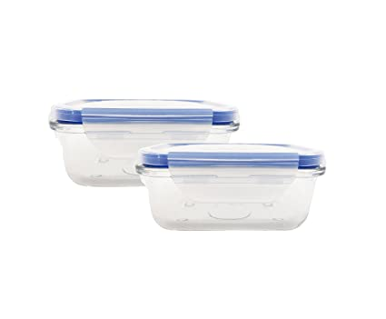 NBD Glass Meal Prep Food Storage Container, BPA Free Airtight Snap Locking  Lids,