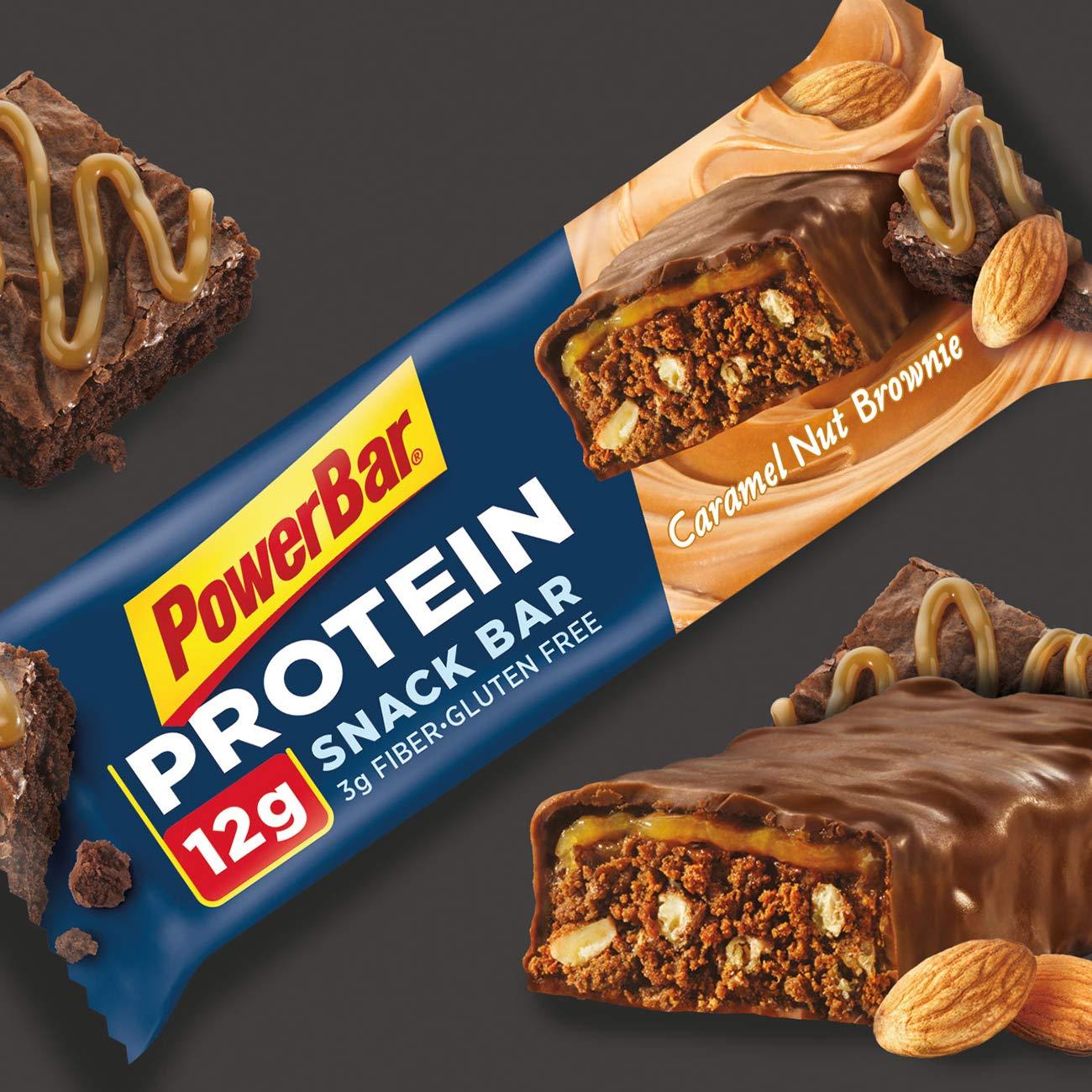PowerBar Protein Snack Bar, Caramel Nut Brownie, 50 Gram, 1.76 Ounce Pack of 15