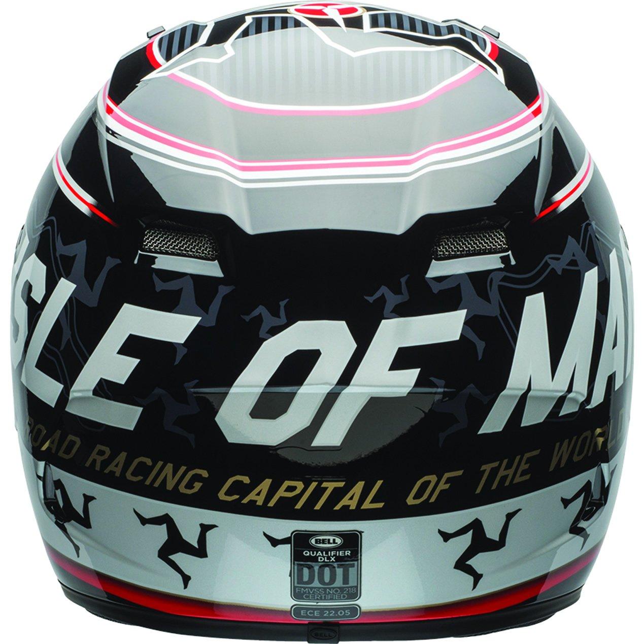 Bell Helmet Qualifier DLX Isle Of Man Black//Red Gr/ö/ße L