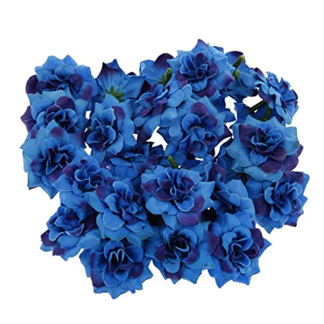 50pcs Blumenköpfe Rose Künstlichen Blumen Kunstblumen Haus Hochzeit Partei Dekor