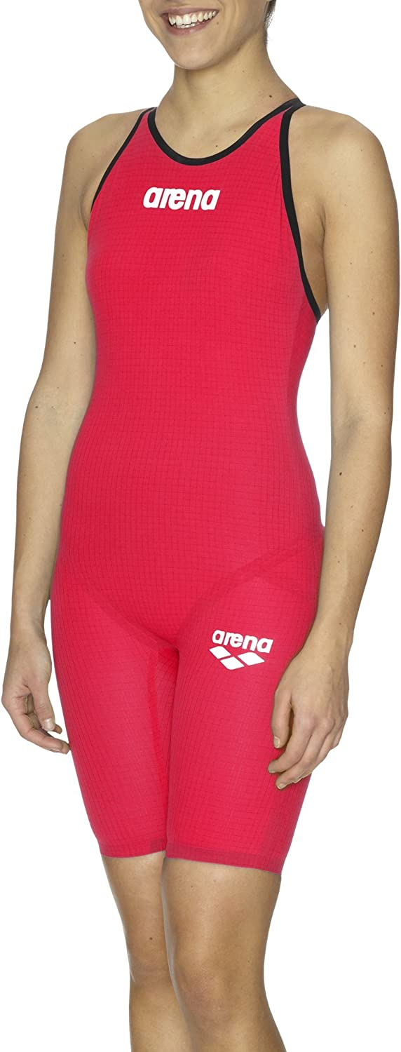 Arena Women's Tracksuit Powerskin competition – Pro Carbon Red (Bright Red)