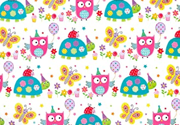 simon elvin cute animal wrapping paper 2 sheet of gift wrap 1