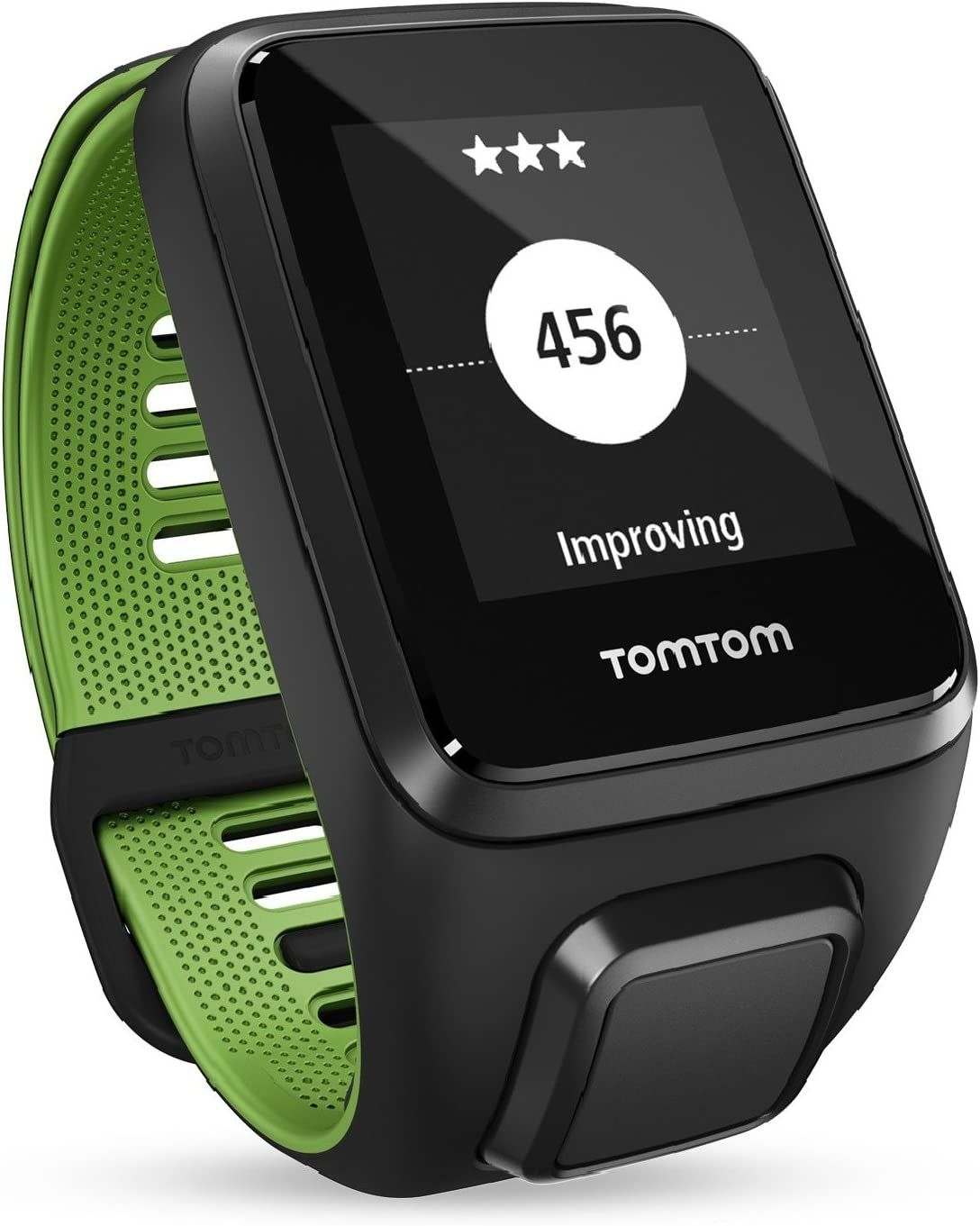 TomTom Runner 3 Cardio+Music+Auriculares, Reloj cardio, música y auricular, Negro/Verde, S (Pequeña)