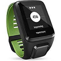 TomTom RUNNER 3 Cardio + Music + Casque BT - Montre de Sport GPS - Bracelet Fin - Noir/Vert