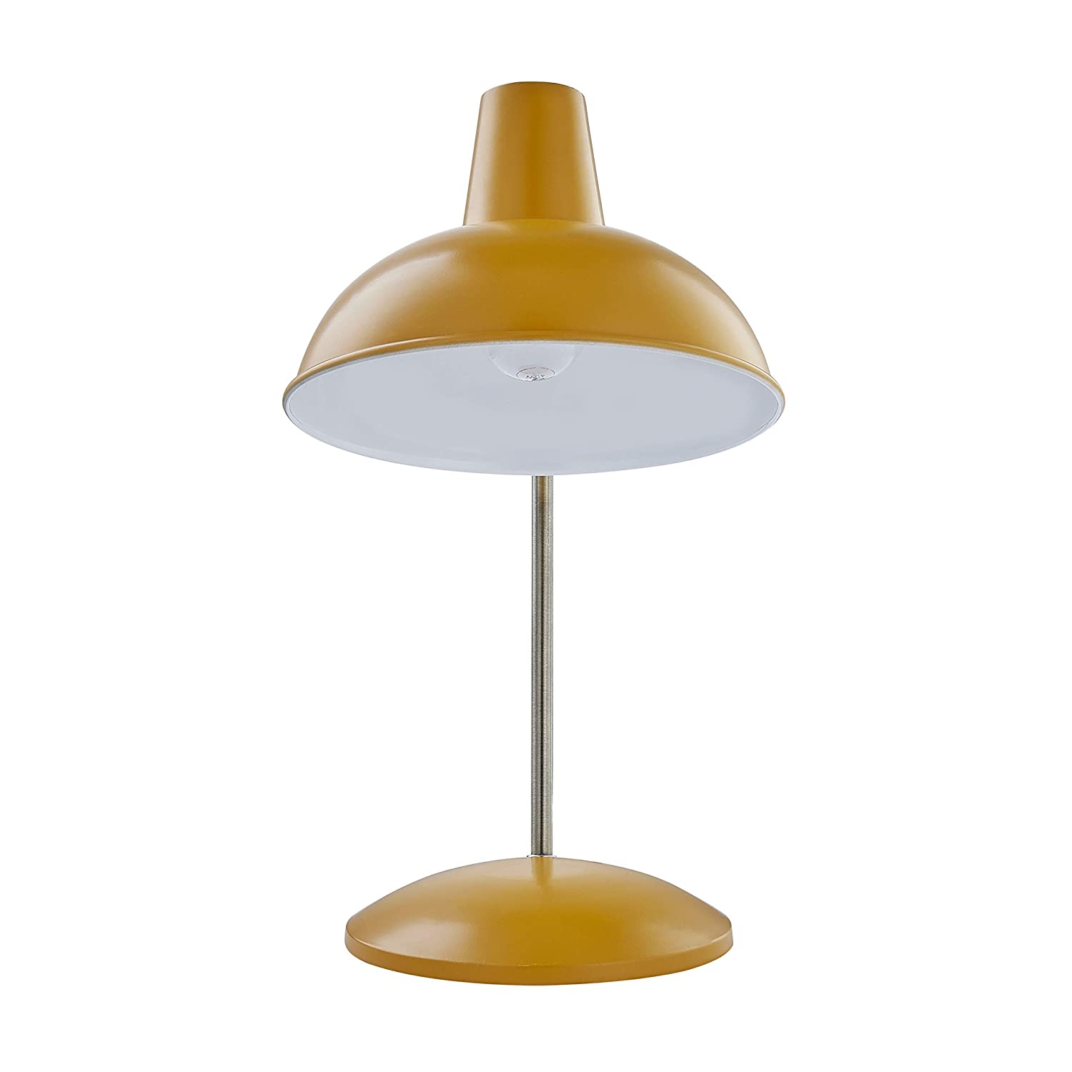 Light Society Mustard Yellow Retro Hylight Desk Lamp With Antique