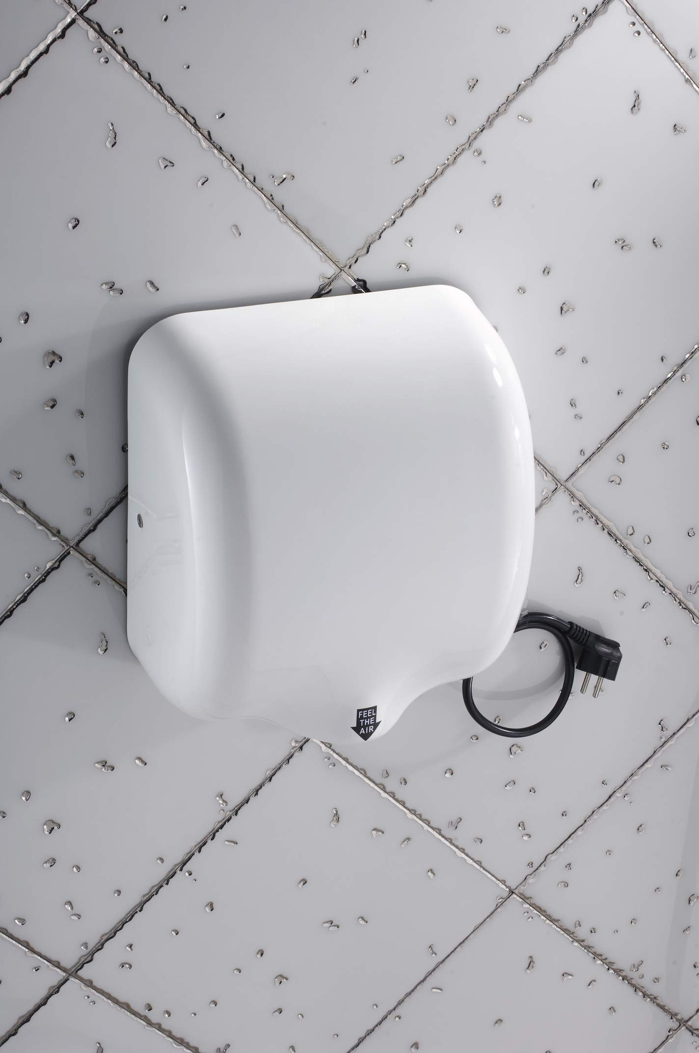 Mophorn 1800W Automatic Hand Dryer 110V Stainless Steel Commercial Hand Dryer Electric Hand Dryer for Hotel Home Bathrooms Air Hand Dryers White (White) by Mophorn (Image #4)